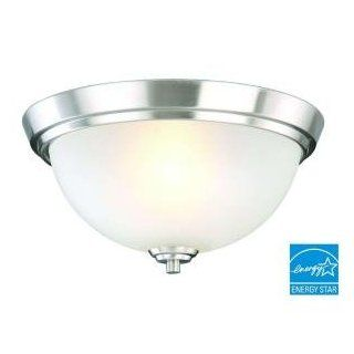 "Stratus 2 Light Brushed Nickel 6.125""hx13""wx13 Brushed Nickel   Flush Mount Ceiling Light Fixtures"