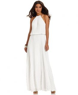Xscape Sleeveless Pleated Blouson Gown   Dresses   Women