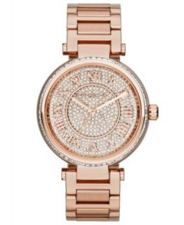 Michael Kors Womens Chronograph Parker Rose Gold Tone Stainless Steel Bracelet Watch 39mm MK5857   A Exclusive   Watches   Jewelry & Watches