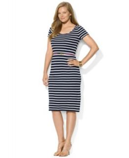 Soprano Plus Size Short Sleeve Printed Midi Dress   Dresses   Plus Sizes