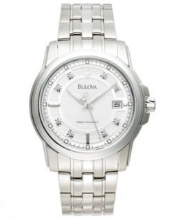 Bulova Mens Precisionist Stainless Steel Bracelet Watch 44mm 96B130   Watches   Jewelry & Watches