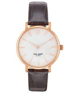 kate spade new york Watch, Womens Metro Plum Alligator Embossed Leather Strap 34mm 1YRU0225   Watches   Jewelry & Watches