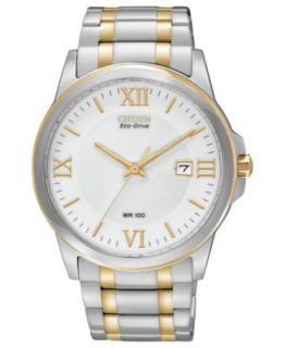 Citizen Mens Eco Drive Corso Two Tone Stainless Steel Bracelet Watch 39mm BM6844 57P   Watches   Jewelry & Watches
