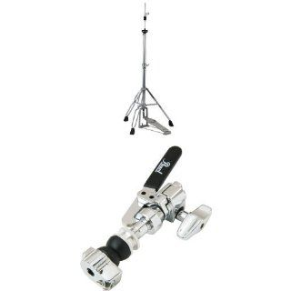 Pearl H830 Hi Hat Stand, Demonator Style Long Footboard and Swivel Legs with Pearl DCL300P Drop Clutch, Felt Washers, Lock Nut Musical Instruments