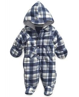 First Impressions Baby Snowsuit, Baby Boys Plaid Coverall   Kids