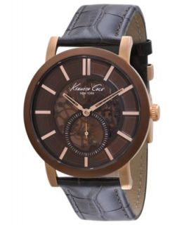Kenneth Cole New York Watch, Mens Automatic Brown Leather Strap KC1718   Watches   Jewelry & Watches