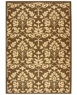 MANUFACTURERS CLOSEOUT Safavieh Indoor/Outdoor Area Rug, Courtyard CY3416 Chocolate / Natural 5 3 x 7 7   Rugs