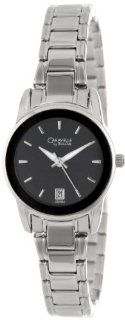 Caravelle by Bulova Women's 43M104 Black Dial Bracelet Watch at  Women's Watch store.