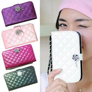 S9D Luxury Wallet Crystal Diamond Leather Case Cover For Samsung Galaxy Note 2 Cell Phones & Accessories