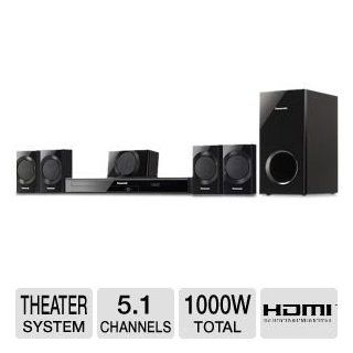 Panasonic 1000 Watt 5.1 Channel DVD Home Theater System, Features 1000W Total Output Power, 1080p Upconversion with HDMI, Clear Sound Digital Amplifier, ARC (Audio Return Channel), USB Connection for iPod/iPhone, 30 Tuner Presets, USB Playback, Dolby Digit
