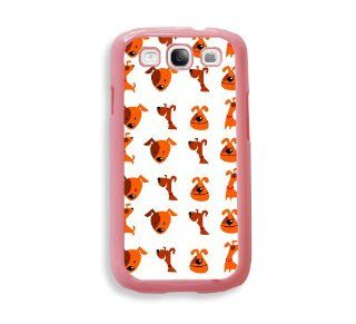 Dogs White Pink Plastic Bumper Samsung Galaxy S3 SIII i9300 Case   Fits Samsung Galaxy S3 SIII i9300 Cell Phones & Accessories