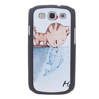 Rayshop   Cat Kiss Fish Pattern Hard Case for Samsung Galaxy S3 I9300 Cell Phones & Accessories