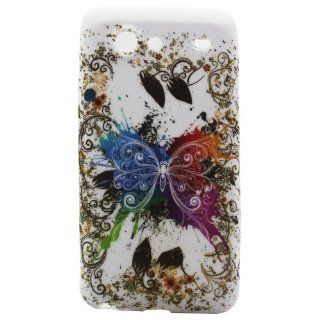 Highsound Flying Color Butterfly TPU Rubber Skin Cover for Samsung Galaxy S Advance I9070 Cell Phones & Accessories