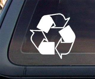 Recycle Logo Car Decal / Sticker  White Automotive