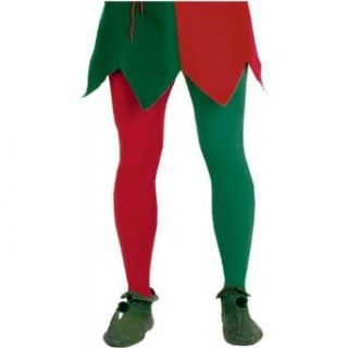 Adult Red and Green Christmas Tights Clothing