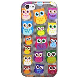 Bfun Packing Cartoon Bird Owl Style Gel Cover Case for Apple iPhone 5C AT&T Verizon Sprint Cell Phones & Accessories