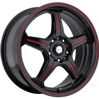 Focal F 01 17 Black Red Wheel / Rim 5x100 & 5x4.5 with a 42mm Offset and a 73 Hub Bore. Partnumber 172 7718R Automotive