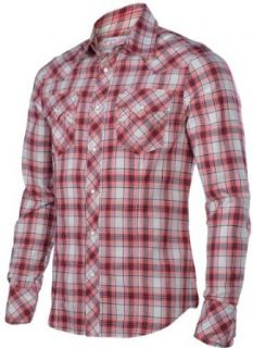 True Religion Brand Jeans Mens Rocky Poplin Plaid Western Shirt Red Small at  Men�s Clothing store Button Down Shirts