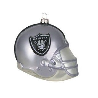 "Oakland Raiders NFL Glass Football Helmet Ornament (3"")  Sports Fan Hanging Ornaments  Sports & Outdoors"