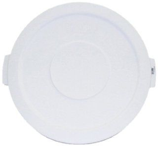 Carlisle 341021 Plastic Round Lid for Container Bronco Series, 20 Gallon, White Kitchen & Dining