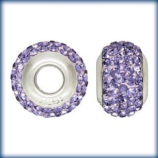 Genuine Swarovski Elements Crystal Beads Fit Most European Style Bracelets. Light Purple Jewelry