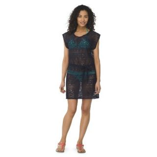 Womens Crochet Cover up Swim Dress  Navy L