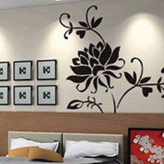 Big Black Flower Wall Sticker Decal JM7040   Wall Decor Stickers