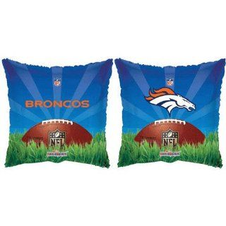 "NFL Denver Broncos Square 18"" Mylar Balloon Toys & Games"