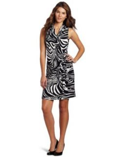 Karen Kane Women's Sleeveless Wrap Dress, Multi Colored, X Small