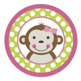 Mod Monkey Girl {Green Polka Dots} Edible Cake Topper Decoration