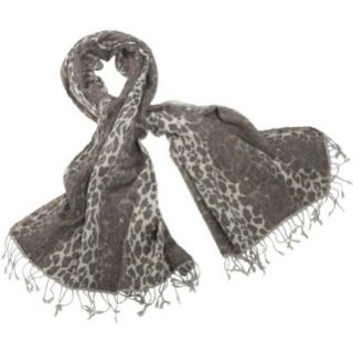 Earth Axxessories Printed Woolen Shawl (Brown Leopard) Shoes