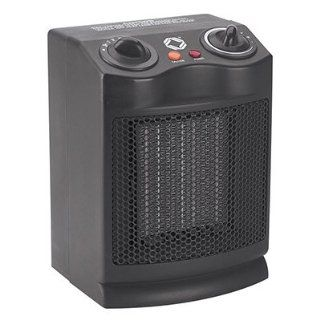 Ceramic Heater Fan, 500/1000/1500 Watt Heat and Fan Only Settings, Black, EA CEB21123
