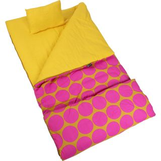 Wildkin Big Dots Hot Pink Sleeping Bag