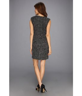 Anne Klein Tweed Fringed Sheath Dress