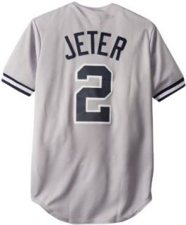 MLB New York Yankees Derek Jeter Road Gray Replica Baseball Jersey, Road Gray, X Large  Athletic Jerseys  Sports & Outdoors