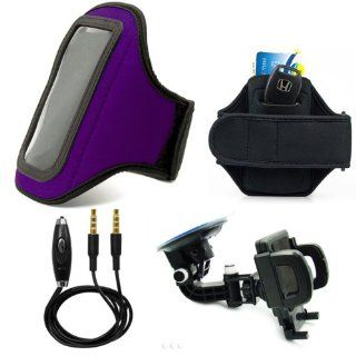 Neoprene Armband, Lightweight, Comfortable + In Microphone + 360� Car Rotatable Windshield Mount Kit Cell Phones & Accessories