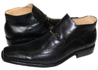 Genuine Leather Italian Mens Dress Shoes/Boots BL002 (8, Black) Shoes