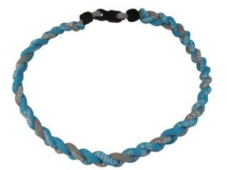 Titanium Tornado 3 Rope Necklace Baseball / Softball LIGHT / SKY BLUE & GRAY / GREY (18 Inches) *2012 2013 Style* Jewelry