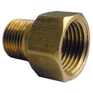LASCO 17 8547 1/2 Inch Female Pipe Thread by 3/8 Inch Male Pipe Thread Brass Coupling   Pipe Fittings