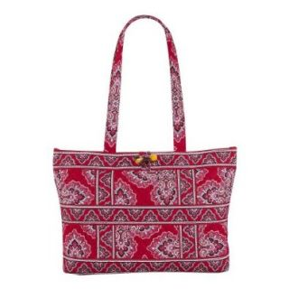Vera Bradley Small Tic Tac Tote Bag Frankly Scarlet Tote Handbags Shoes