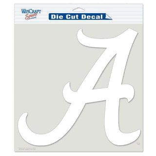 Alabama Crimson Tide NCAA Vinyl Die Cut Window Decal Auto Car Logo White 8x8 Sticker College Licensed Team Logo  Sports Fan Automotive Flags  Sports & Outdoors