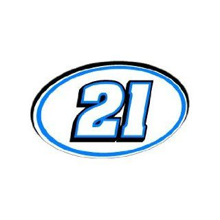 21 Number Jersey Racing   Blue   Window Bumper Sticker Automotive
