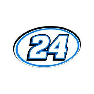 24 Number Jersey Racing   Blue   Window Bumper Sticker Automotive