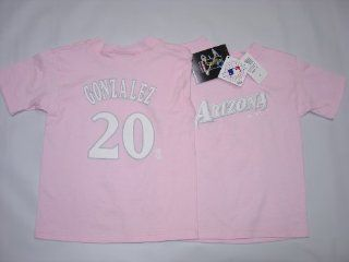 Arizona Diamondbacks Luis Gonzalez Player Name & Number Girls Youth Jersey T Shirt Size 6X  Athletic T Shirts  Sports & Outdoors