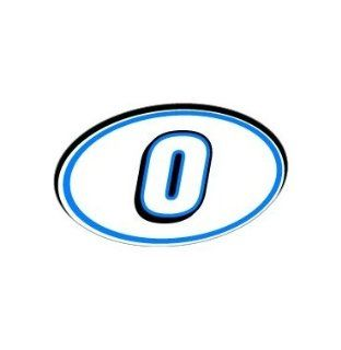 0 Number Jersey Nascar Racing   Blue   Window Bumper Sticker Automotive