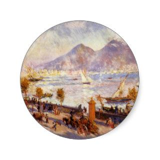 Renoir Mount Vesuvius in the Morning Sticker