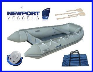Inflatable Sport Boat, 9.5 Ft Dinghy, Tender, Skiff, Rib, Inflatable Boat, Zodiac Like, Caribe Like, Full Boat & Accessories Package  Sports & Outdoors