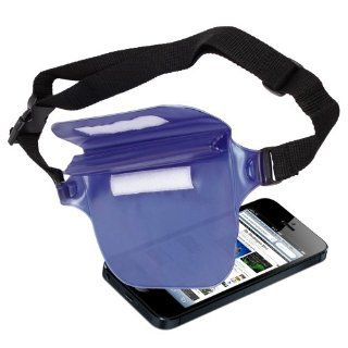 DURAGADGET Extra Secure Waterproof Protective Pouch For The New Apple iPhone 5 Mobile Phone   With Adjustable Waist Strap & Re sealable Water Tight Fastening With Added Velcro Flip Top For Added Safety   In Cool Electric Blue   Great for Canoeing, Swim