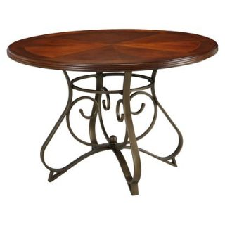 Powell Hamilton Dining Table   Brown