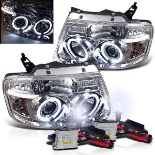 6000k Slim Xenon HID Kit + 04 08 Ford F150 Halo LED Projector Head Lights Automotive